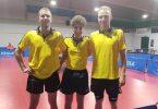 La formazione del TT AUSONIA ENNA è Hristozov Vasil Stoyanov, Daniele Spagnolo e Andrei Labanau